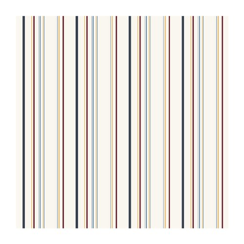 (York Wallcoverings JE3709SMP Friends Forever Multi Stripe 8-Inch x 10-Inch Wallpaper Memo Sample, Primaries On White)