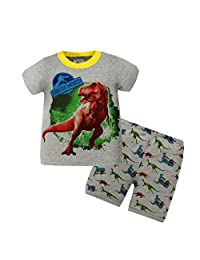 "Kidsmall ""Dinosaur"" Baby Boys Cotton Pajama Set Sleepwear 2T-7T"