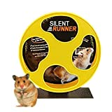 "Exotic Nutrition Silent Runner 9"" - Exercise Wheel + Cage Attachment"