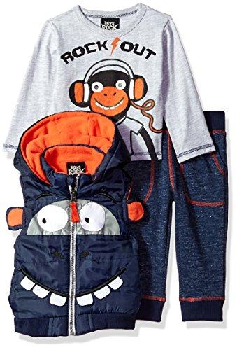 Boys Rock Chaleco Inflable de Moda para niños y bebés, 3 Unidades, Marino, 12m