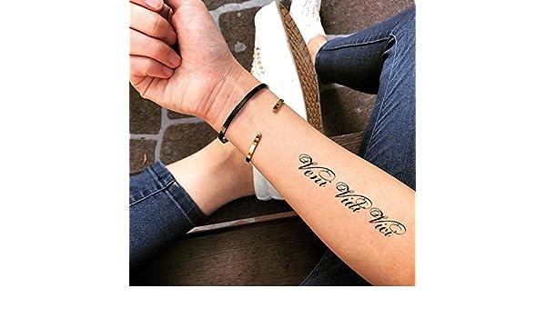 Tatuaje Temporal de Veni Vidi Vici (2 Piezas) - www.ohmytat.com ...