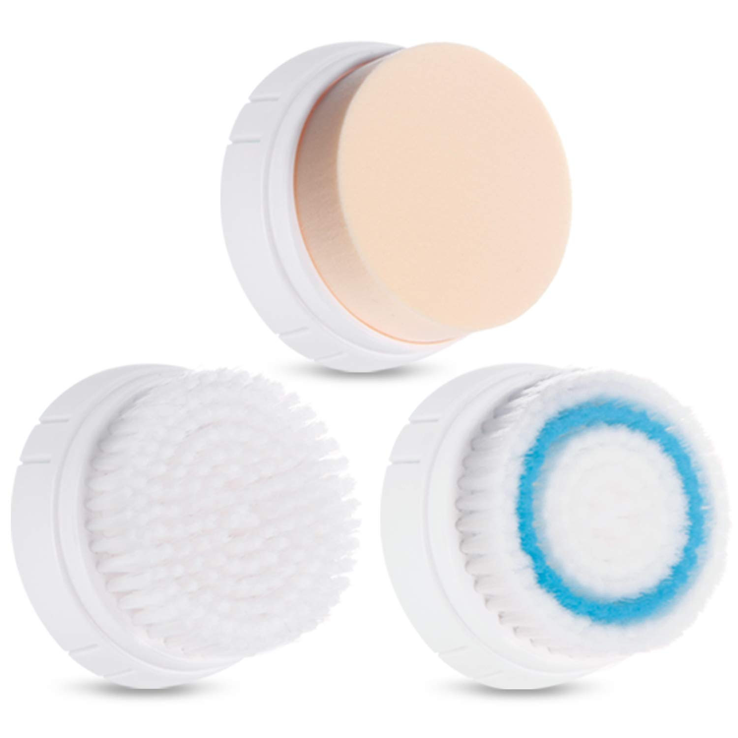 3 PCS Facial Cleansing Brush Heads Replacements for HEYFYV 4 in 1 Sonic Waterproof Powered Face Cleansing Brush