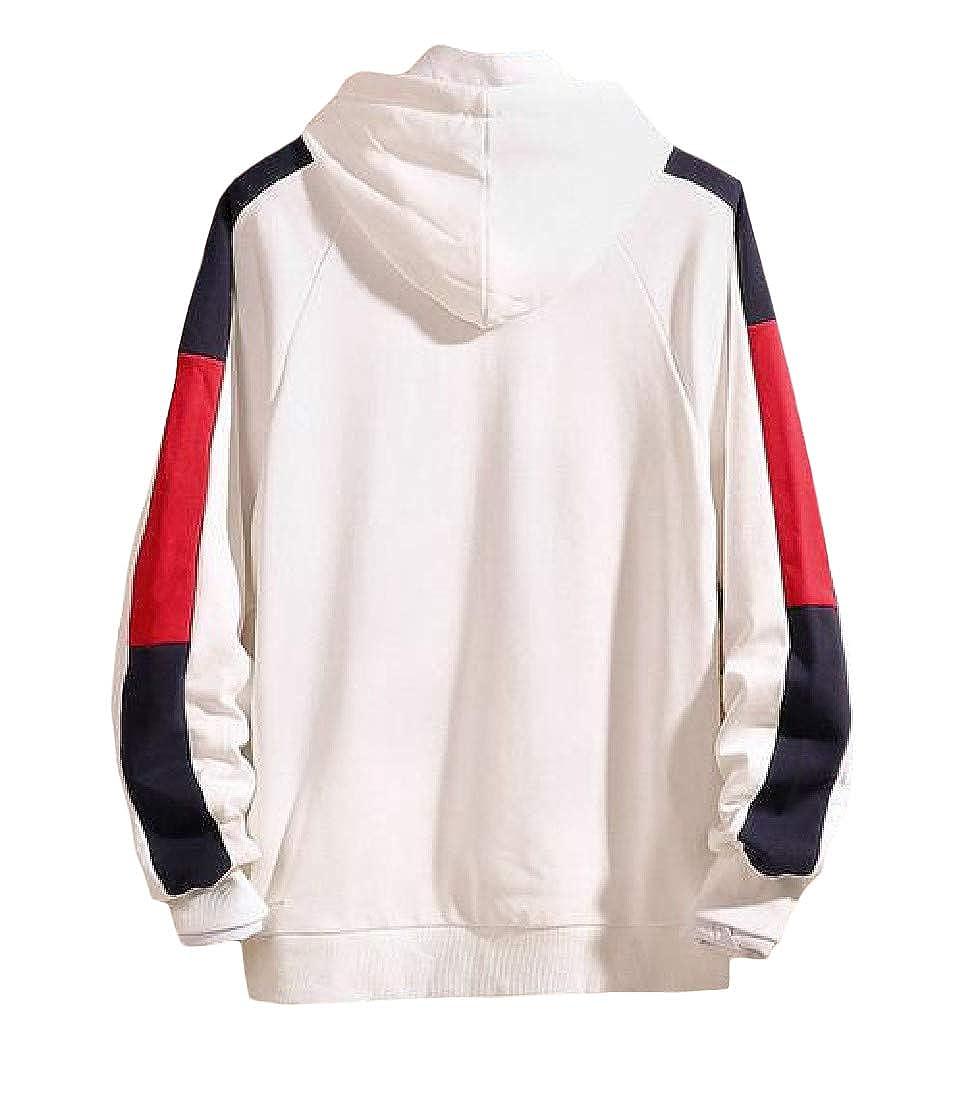Etecredpow Mens Plus Size Hooded Drawstring Casual Athletic Fall//Winter Fleece Sweatshirts