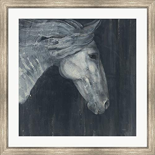 Midnight v3 by Albena Hristova Framed Art Print Wall Picture, Silver Scoop Frame, 34 x 34 inches