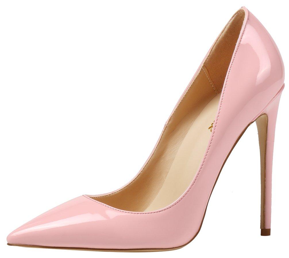 AOOAR AP09N - Zapatos de Vestir de Sintético para Mujer 37 EU|Rosa/Lackleder