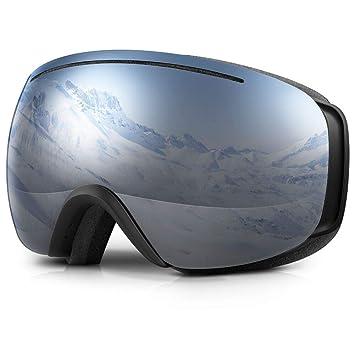 fca69e16417e91 Terra Hiker Masque de Ski Lunettes de Ski Large Vision pour Homme, Femme et  Adolescent