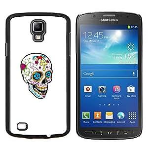 YiPhone /// Prima de resorte delgada de la cubierta del caso de Shell Armor - Cráneo feliz de la primavera Muerte Blanca Limpia - Samsung Galaxy S4 Active i9295