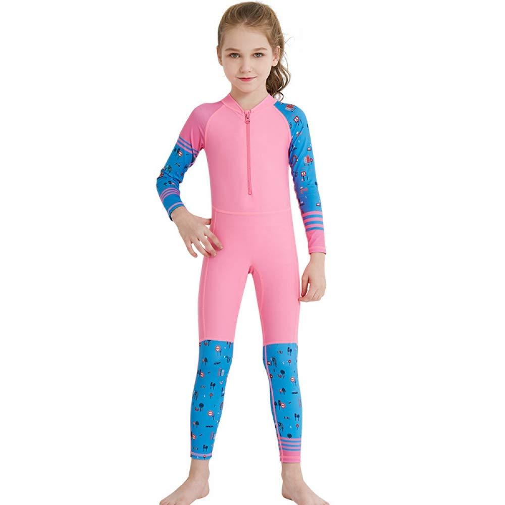 QSFDM Costume de plongée Enfants Une pièce Combinaison à Manches Longues en Lycra Natation plongée en apnée plongée Maillot de Bain garçons Filles Enfants Surfant Rash gardes, Patchwork, l