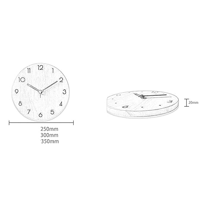 Amazon.com: Wall Clock, Modern Minimalist Wall Clock Home Living Room Office Fashion ins Clock Mute Clock Wall Charts (Color : B, Size : 350350 mm): Home & ...