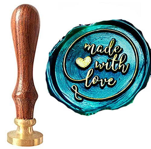 - CTEB 'Made with Love' Heart Monogram Wax Seal Stamp Kit Decorating Gift Cards Weding Invitations Envelopes Letetrs Sealing Wax Seal Stamp