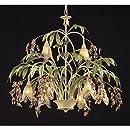 Elk Lighting Huarco 8-light Chandelier in Seashell and Amber Glass