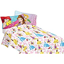 Disney Bedazzling Princess Full Sheet Set