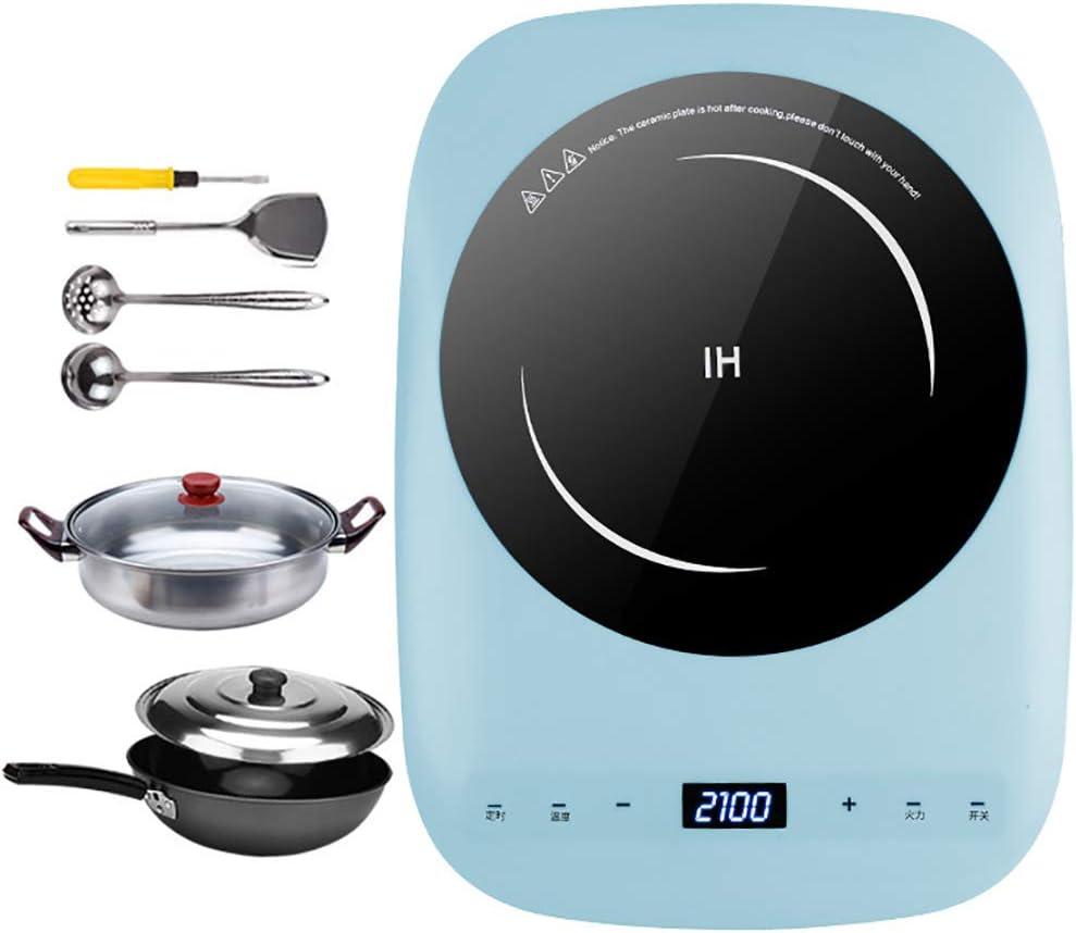 F-JX Placa Inducción Kits, Doble Cocina De Inducción con Ultra-Delgado Cuerpo, 8 Niveles De Temperatura, Niveles De Potencia Múltiples, 2100W, Contador De Tiempo De 3 Horas,D