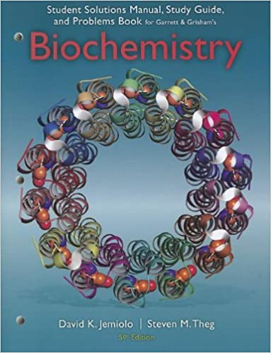 Amazon study guide with student solutions manual and problems study guide with student solutions manual and problems book for garrettgrishams biochemistry 5th 5th edition fandeluxe Choice Image