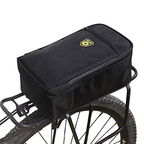 Feileng Water-Resistant Bicycle Rack Bag Trunk Bike Rear Seat Bag Pad Pannier with RearSeatLight