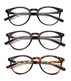 190d17daeea4 Outray Vintage Inspired Small Nails Round 3 Pack Spring Hinges Frame  Reading Glasses 1.75