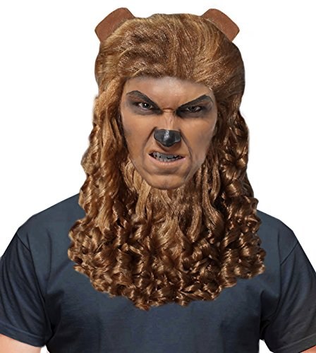 The Beast Costume Wig Beast Costumes for Men Beauty and The Beast Costume (Halloween Makeup Over Beard)