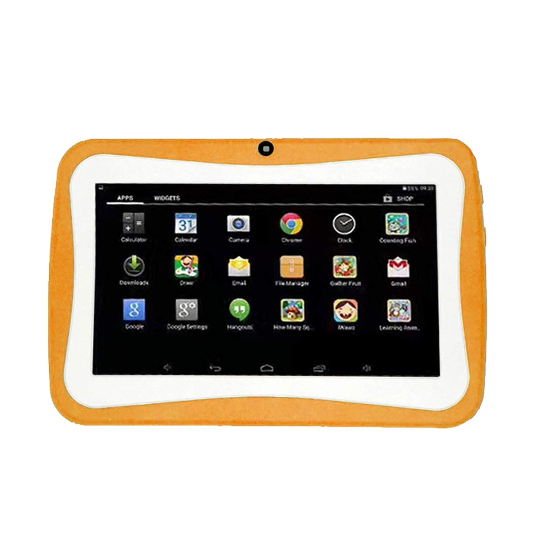 Kids Tablets PC 7 inch | Android WiFi Tablet 4-Core Processor, 1G RAM, 8GB ROM Laptop Computer HD Display Children Gifts (Orange)