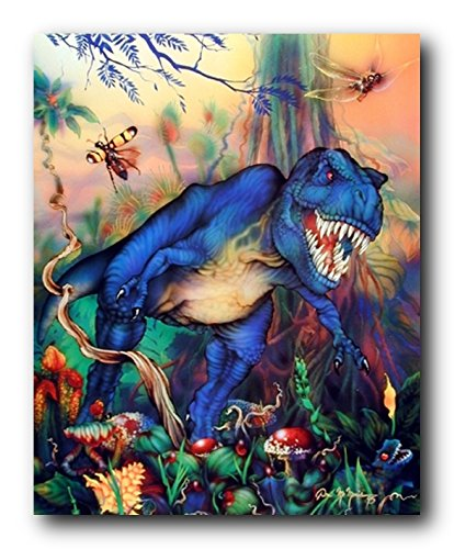T Rex Dinosaur Triceratops Kids Room Animal Wall Decor Art Print Poster (T-rex Poster)