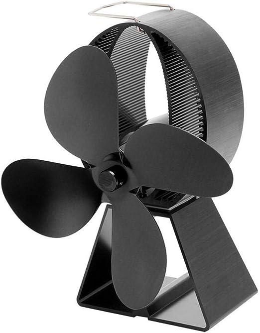 Ventilador De Estufa De Leña Para Leña / Leña / Chimenea - Funcionamiento Silencioso 4 Aspas De Rotor Ventilador De Chimenea Ventilador De Estufa Estufas De Chimenea - Respetuoso Con El Medio Ambiente: Amazon.es: Hogar