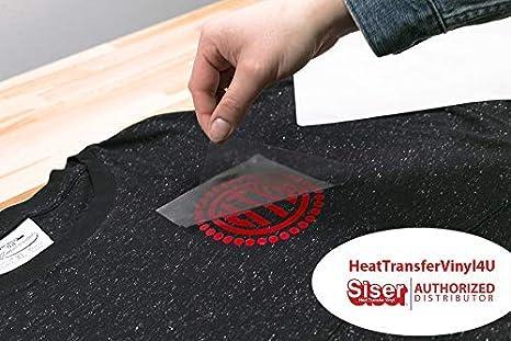 38cm x 1.5m, Black) - Siser Easyweed Iron on Heat Transfer Vinyl ...