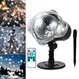 Led Projector Lights Snowflake Projector Lamp with Wireless Remote Indoor Outdoor Waterproof Snow
