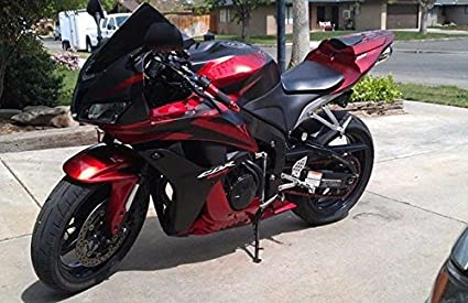 Lovely Matte Black W/Red Fairing Injection For 2007 2008 Honda CBR 600 RR 600RR
