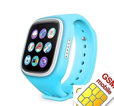 Reloj inteligente para niños con rastreador GPS para llamadas SOS, tarjeta SIM, monitor remoto: Amazon.es: Electrónica