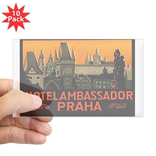 CafePress - Prague Czech Republic Rectangle Sticker 10 Pk - Rectangle Bumper Sticker (10-Pack), Car Decal ()