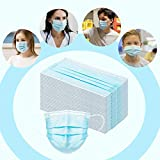 50 Pcs Disposable Face Mask, 3 Layer Breathable