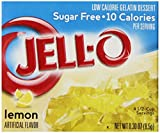 Jell-O Sugar-Free Gelatin Dessert, Lemon, 0.30-Ounce Boxes (Pack of 72)