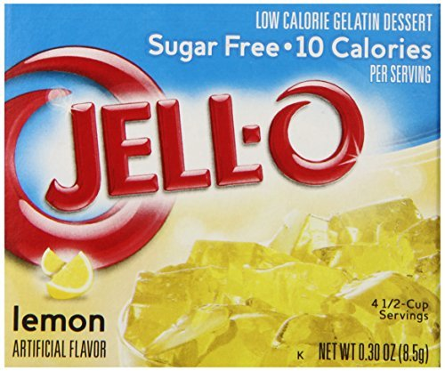 Jell-O Sugar-Free Gelatin Dessert, Lemon, 0.30-Ounce Boxes (Pack of 72) by Jell-O