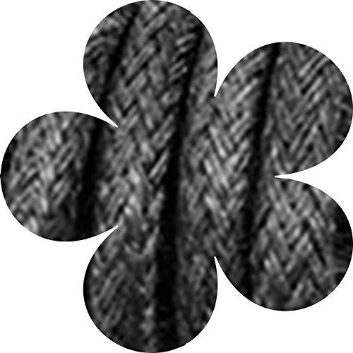 Buy cotton shoe laces round black