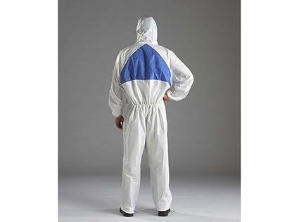 3M 7100040416 Traje de protección, Blanco, L