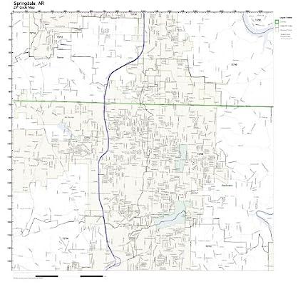 Amazon.com: ZIP Code Wall Map of Springdale, AR ZIP Code Map ...