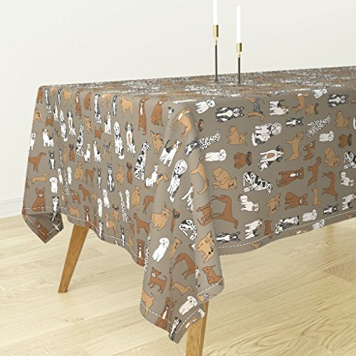 Jack Russell Bichon - Roostery Tablecloth - Bichon Dog Puppy Husky Jack Russell Weiner Dog Shih Tzu by Andrea Lauren - Cotton Sateen Tablecloth 70 x 120