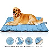 KOBWA Large Size Waterproof Pet Bed Mats, Ultra Soft Dog & Cat Bed Cover - Non-Sticky Hair, Portable Roll Up Dog Sleeping Pad for Outdoor or Indoor - Funiture, Floors