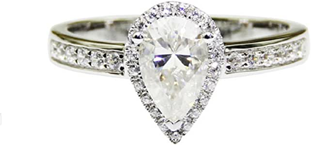 GOWE Pear Cut 2ct Moissanites Lab Grown Diamond Classic