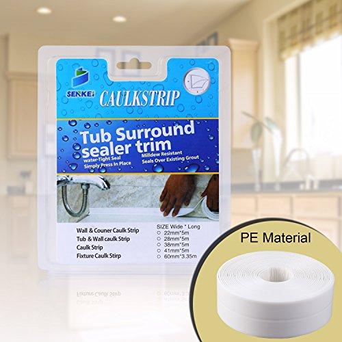 "Caulk Strip, Oumers PE Strong Self Adhesive 1-1/2""x17'Caulk Sealer Best for Fixture Wall Bathtub Corner Kitchen Bathroom Shower Sink from Oumers"
