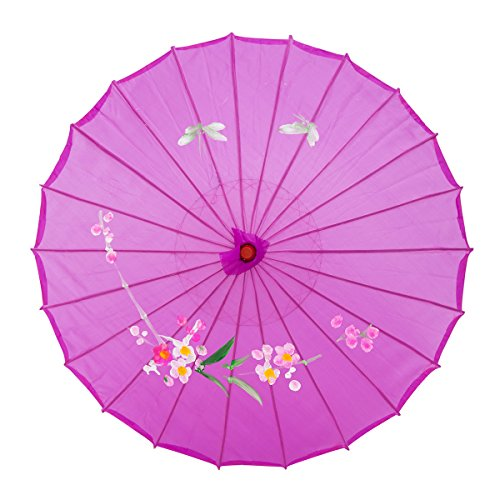 THY COLLECTIBLES 22 Kids Size Japanese Chinese Umbrella Parasol For Wedding Parties, Photography, Costumes, Cosplay, Decoration And Other Events (Purple)