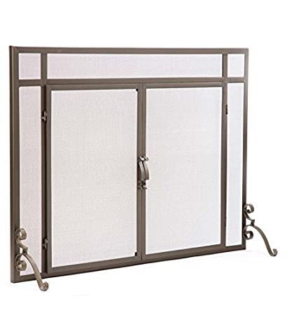 Amazon Large Flat Guard Fireplace Screen With Doors