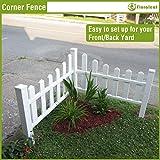 FLORALEAF Vinyl Fence Corner Picet Fence New