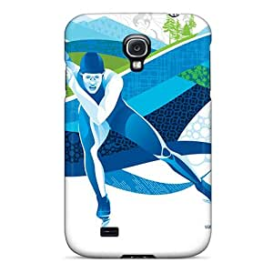 For Galaxy S4 Premium Tpu Case Cover Speed Skating Protective Case