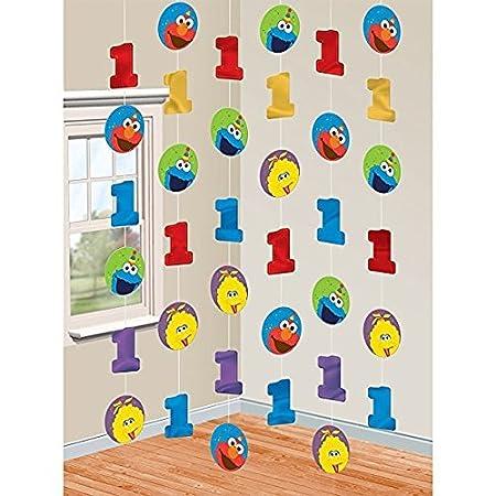 Amscan - Regalo para el Primer cumpleaños de Elmo con ...