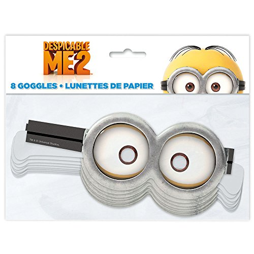 [Despicable Me Minion Goggle Party Masks, 8ct] (L Themed Costumes)