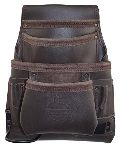 Graintex OS2220 10 Pocket Oil Tanned Leather Nail & Tool Pouch with Tape Holder & Hammer Holder