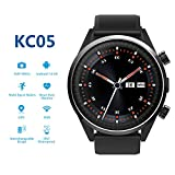 4G Smartwatch, KC05 LTE Smart Watch for Android & iOS Phone with MTK 6739 Quad Core 1GB+16GB, SIM Card, 1.39″ AMOLED Screen, Bluetooth, HR GPS, 5MP Camera & Heart Rate Monitor by HouseMao (Black)