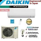 Daikin 12,000 BTU 24.5 SEER Ductless Mini Split Air Conditioner 2015 / High Efficiency / High Energy Saving / High Seer Inverter Air Conditioner Heating, Cooling, Dehumidification, Ventilation 1 TON