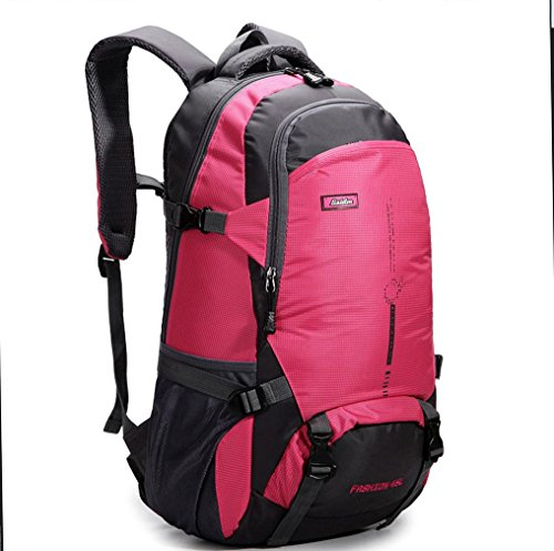 BUSL Montañismo al aire libre bolso bandoleras para hombres y mujeres mochila casual transpirable impermeable . black . 18 inch Red