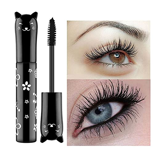 Sakoid New Colorful Mascara Rainbow Fiber Mascara Charming Longlasting Thick & Long Eyelash Waterproof and Smudge-Proof Eyes Makeup Gift For Women and Girls Pack of 1, Silk Fiber Color Mascara (Black)